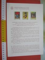 D.01 BOLLETTINO ILLUSTRATO ANNOUNCEMENT POST ITALIA - 1976 GIORNATA DEL FRANCOBOLLO INFANZIA FIABE DISEGNI BIMBI BAMBINI - Fiabe, Racconti Popolari & Leggende