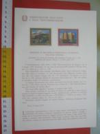 D.01 BOLLETTINO ILLUSTRATO ANNOUNCEMENT POST ITALIA - 1977 EUROPA CEPT ETNA VULCANO SICILIA CASTEL DEL MONTE FEDERICO II - Holidays & Tourism