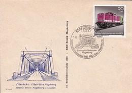 DDR 1980 Eisenbahn Elbebrücke Magdeburg 01-06-1980 - Trains