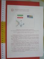 D.01 BOLLETTINO ILLUSTRATO ANNOUNCEMENT POST ITALIA - 1978 AEROGRAMMA SPEDIZIONE VOLO POLO NORD DIRIGIBILE 50 ANNI - Spedizioni Artiche