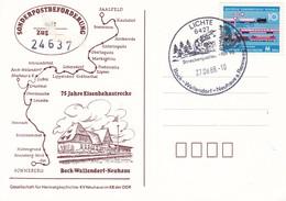 DDR 1988 75 Jahre Eisenbahnstrecke Bock - Wallendorf - Neuhaus  27-08-1988 - Trains