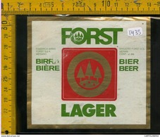 Etichetta Birra Forst - Birra