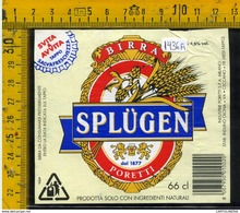 Etichetta Birra Splugen - Birra