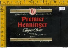 Etichetta Birra Premier Henninger - Birra