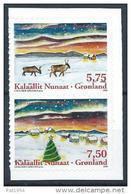 Groënland 2008 N° 502/503 Neufs Adhésifs Issus Du Carnet Noël - Groenland