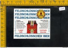 Etichetta Birra Feldschlosschen - Birra