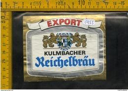 Etichetta Birra Kulmbacher - Birra