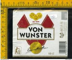 Etichetta Birra Von Wunster - Birra