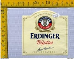 Etichetta Birra Erdinger - Birra