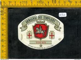 Etichetta Birra Armagnac Des Templiers Vieux - Birra