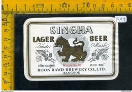Etichetta Birra Singha - Birra