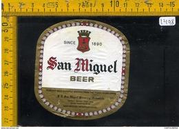 Etichetta Birra San Miguel - Birra