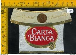 Etichetta Birra Carta Blanca - Birra