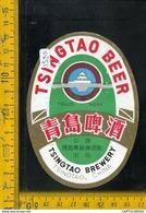 Etichetta Birra Tsingtao China - Birra