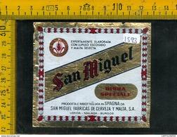 Etichetta Birra San Miguel Spagna - Birra