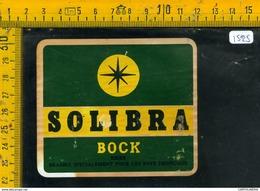 Etichetta Birra Solibra Bock - Birra
