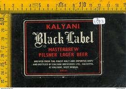 Etichetta Birra Black Label Kalyani Bengal - Birra