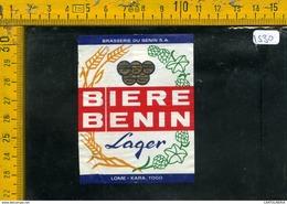 Etichetta Birra Biere Benin Togo - Birra