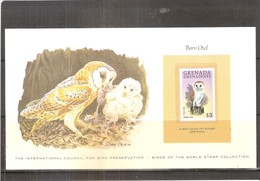 Barn Owl - Hibou De Grange - Stamp From Grenada Grenadines - XX/MNH - Owls