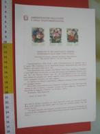 D.01 BOLLETTINO ILLUSTRATO ANNOUNCEMENT POST ITALIA - 1981 FIORI ANEMONE OLEANDRO ROSA ANNULLO RETRO EUROFLORA GENOVA - Roses