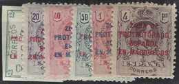Maroc Espagnol Postes  N° 85 à 90 Alphonse XIII 6 Valeurs Surchargées Qualité: * Cote: 145 € - Stamps