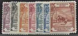 Maroc Espagnol Télégraphes  N° 25 à 31 7  Valeurs Dentelées 14 Qualité: * Cote: 75 € - Stamps