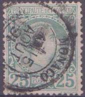 Monaco Postes  N° 6 25c Charles III Vert TB Qualité: Obl Cote: 90 € - Monaco