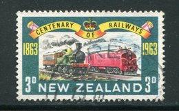 NOUVELLE-ZELANDE- Y&T N°417- Oblitéré (train) - Trains