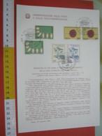 D.01 BOLLETTINO ILLUSTRATO ANNOUNCEMENT POST ITALIA - 1981 LIVORNO GIORNATA DEL FRANCOBOLLO POSTA + FRANCOBOLLI ANNULLO - Posta