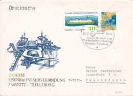 DDR 1979 70 Jahre Eisenbahnfährverbinding Sassnitz - Trelleborg FDC 26-08-1979 - Trains