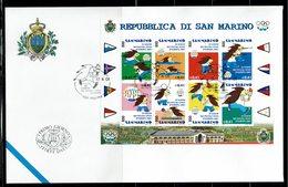 FDC SAN MARINO 2001 IX GIOCHI DEI PICCOLI STATI D'EUROPA - JEUX DES PETITS ÉTATS D'EUROPE - Sellos