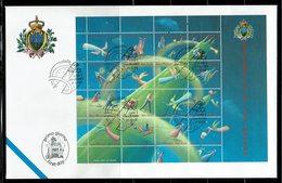 FDC SAN MARINO 2001 NATALE NAVIDAD NÖEL - Navidad