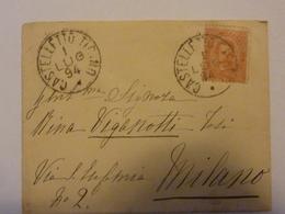 Busta Viaggiata Da Castelletto Ticino A Milano Luglio 1894 - 1878-00 Umberto I