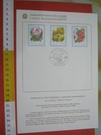 D.01 BOLLETTINO ILLUSTRATO ANNOUNCEMENT POST ITALIA - 1983 PALLANZA NOVARA VERBANIA FIORI RODODENDRO MIMOSA GLADIOLO - Plants