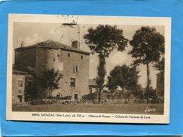 GRAZAC-chateau -colonie De Vacances De LYON-a Voyagé En 1950  édition Margerit - France