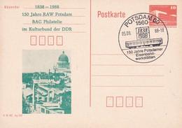 DDR 150 Jahre Potsdammer Eisenbahnwerkstätten 05-09-1988 - Trains