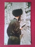 POSTAL CARTE POSTALE POST CARD POSTCARD ISRAEL JUDIO REZANDO EN EL MURO DE LAS LAMENTACIONES JUDAISMO WAILING WALL JEW - Israel