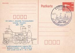 DDR 150 Jahre 1. Deutsche Ferneisenbahn Leipzig - Dresden 20-05-1989 - Trains
