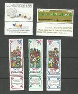 Israël N°596 à 600 Neufs** Cote 3.05 Euros - Israël