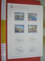 D.01 BOLLETTINO ILLUSTRATO ANNOUNCEMENT POST ITALIA - 1987 TURISMO PALLANZA VERBANIA PALMI VASTO VILLACIDRO - Holidays & Tourism