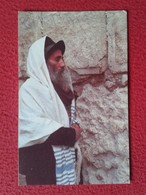 POSTAL CARTE POSTALE POST CARD ISRAEL JUDÍO YEMENÍ EN EL MURO DE LAS LAMENTACIONES JUDAISMO WAILING WALL YEMENITE JEW - Israel