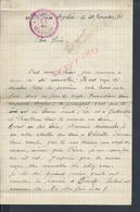 MILITARIA LETTRE D UN MILITAIRE AVEC TAMPON STALA ? ECRITE DE SAINT PIERRE ÉGLISE 1940 PARLE DE GATTEVILLE & BARFLEUR : - Documents