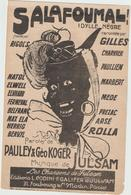 (GEO1) SALAFOUMAL ;  RIGOL'S , Paroles PAULEY & GEO KOGER , Musique JULSAM Illustration PD - Partitions Musicales Anciennes