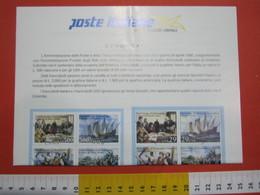 D.01 BOLLETTINO ILLUSTRATO ANNOUNCEMENT POST ITALIA - 1992 GENOVA USA CRISTOFORO COLOMBO AMERICA 500 ANNI - Emissioni Congiunte
