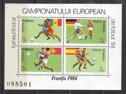 Rumänien; 1984; Michel Block 206 **; France; Fussbal Fotbal - 1948-.... Républiques