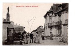 CPA 50 - Coutainville - La Rue De Coutances , Bien Animée - Autres Communes
