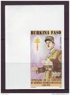 BURKINA FASO 1990. YT N° 829** NON DENTELE. Général De Gaulle - Burkina Faso (1984-...)