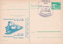DDR 100 Jahre Schmalspurbahn Freital - Hainsberg - Kurort Kipsdorf 03-09-1983 - Trains
