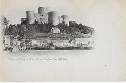 COUCY Le CHATEAU : Vue Du Château Prise Au Couchant ( Carte Précurseur écrite En 1896 ); - Other Municipalities