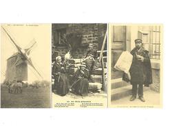 Cartes Postales Repro  Petits Métiers 3 Cartes Le Molulin Lavo- Au Pays Marchois-le Crieur De Journaux - France